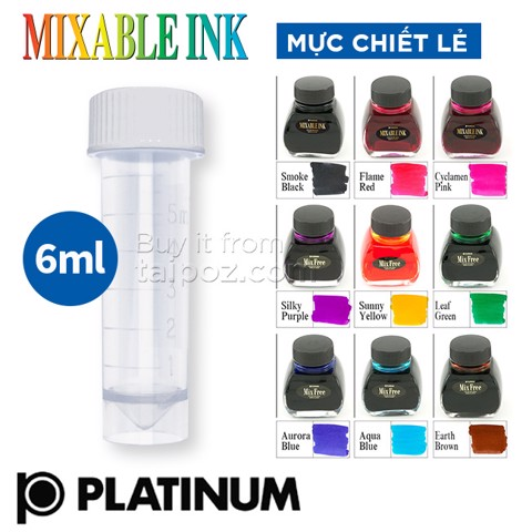 Mực Platinum Mixable Ink, chiết lẻ 6ml