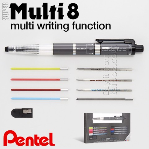 Bút Pentel Super Multi 8 (multi writing function)