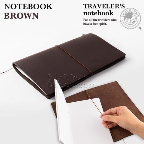 Sổ da Midori Traveler's Notebook, màu Brown