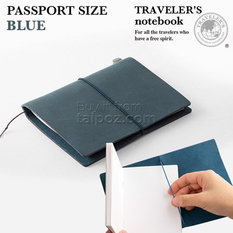 Sổ da Midori Traveler's Notebook - passport size - Blue