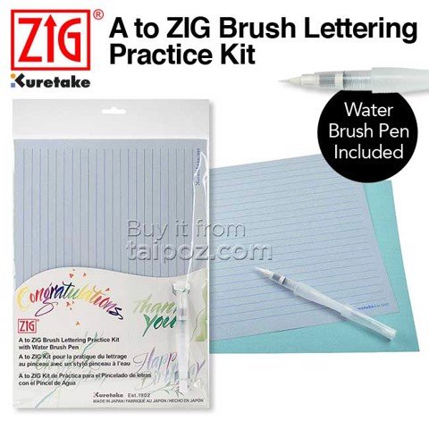 Bộ luyện tập Brush Lettering A to Zig