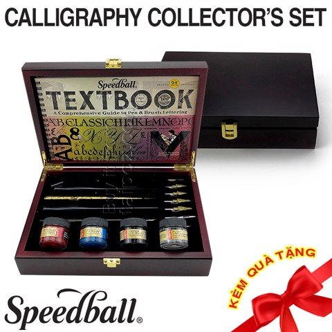 Bộ ngòi calligraphy Speedball Collector's Set, hộp gỗ