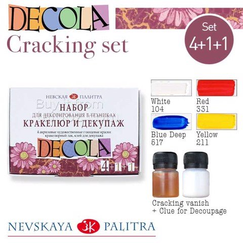 Bộ màu Decola Cracking & Decoupage