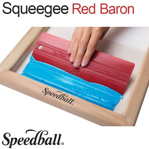 Gạt màu in lụa Speedball Red Baron