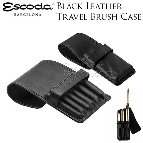 Túi đựng cọ vẽ Escoda black leather