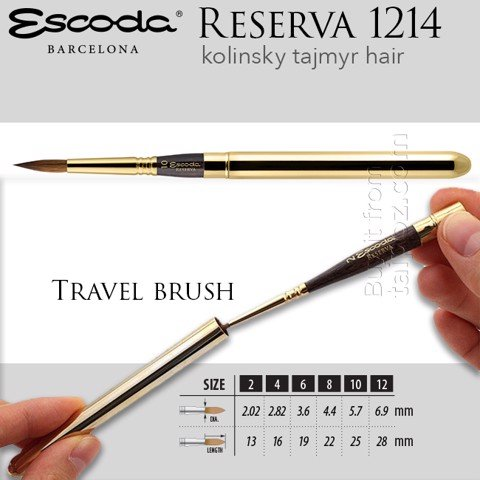 Cọ màu nước Escoda Reserva 1214, Travel brush