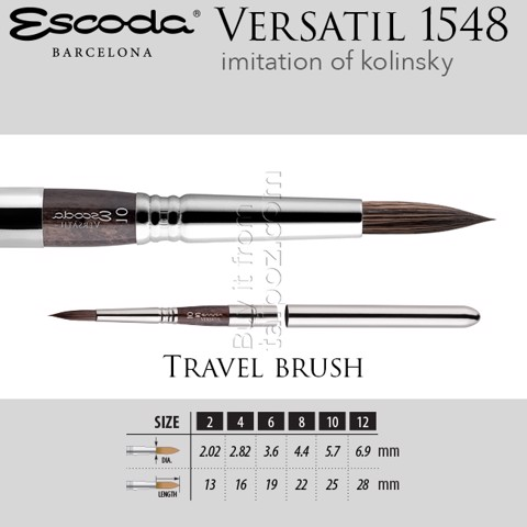 Cọ màu nước Escoda Versatil 1548 - travel brush