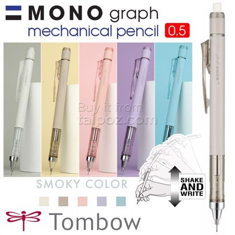 Bút chì kim Tombow Mono Graph Shaker 0.5mm, Smoky Edition 2020