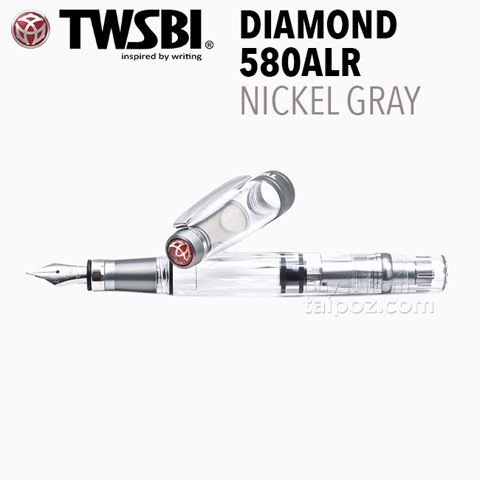 Bút máy TWSBI Diamond 580ALR Nickel Gray
