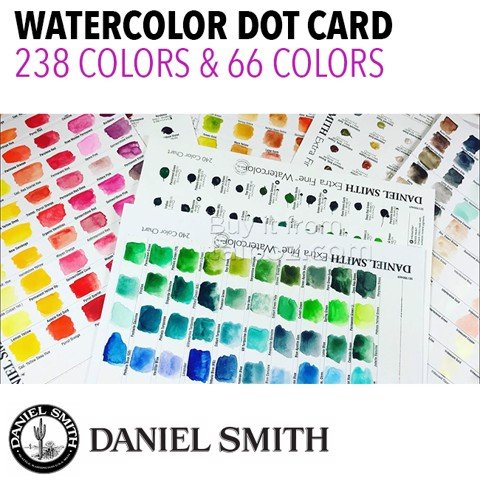 Bảng màu mẫu Daniel Smith Extra Fine Watercolor Dot-cards
