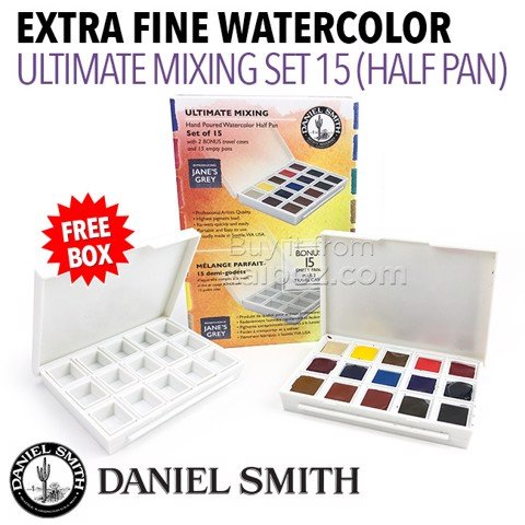 Màu nước Daniel Smith half-pan, Ultimate Mixing 15 màu