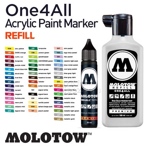 Mực nạp bút marker Molotow One4All