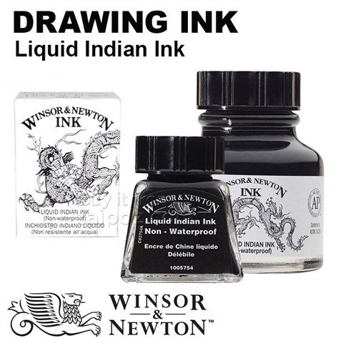 Mực vẽ Winsor & Newton Liquid Indian Ink