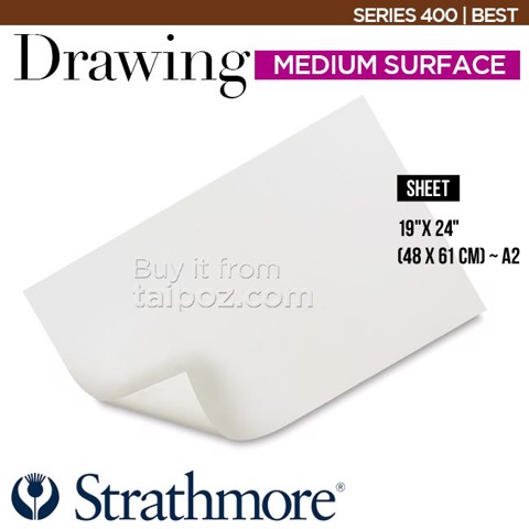Giấy vẽ khổ lớn Strathmore Drawing series 400 - Medium surface