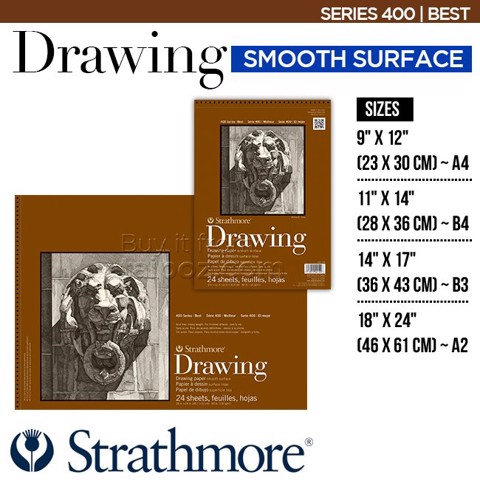 Sổ vẽ Strathmore Drawing series 400 - Smooth surface