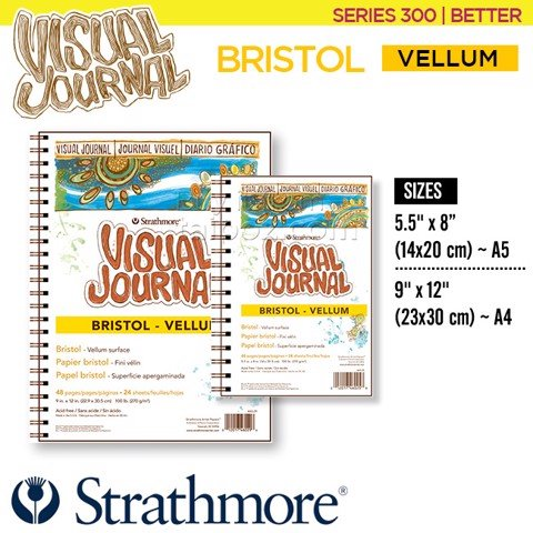 Sổ vẽ Strathmore Visual Journal - 300 Bristol Vellum