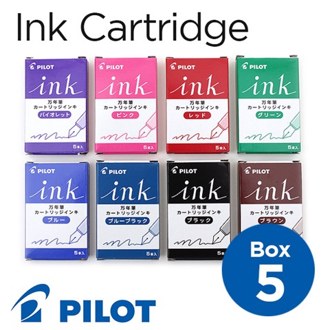 Mực ống cartridge Pilot INK, hộp 5 ống