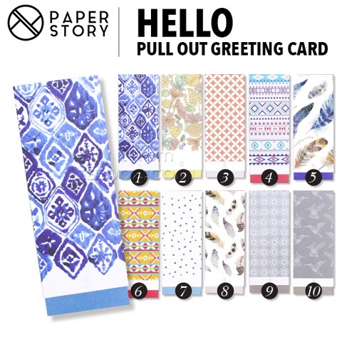Thiệp chúc mừng Hello - Pull out Greeting Card