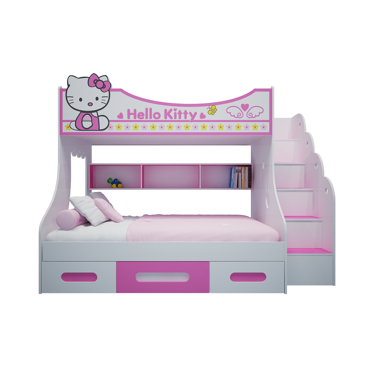 Giường Tầng Hello Kitty (1m4)