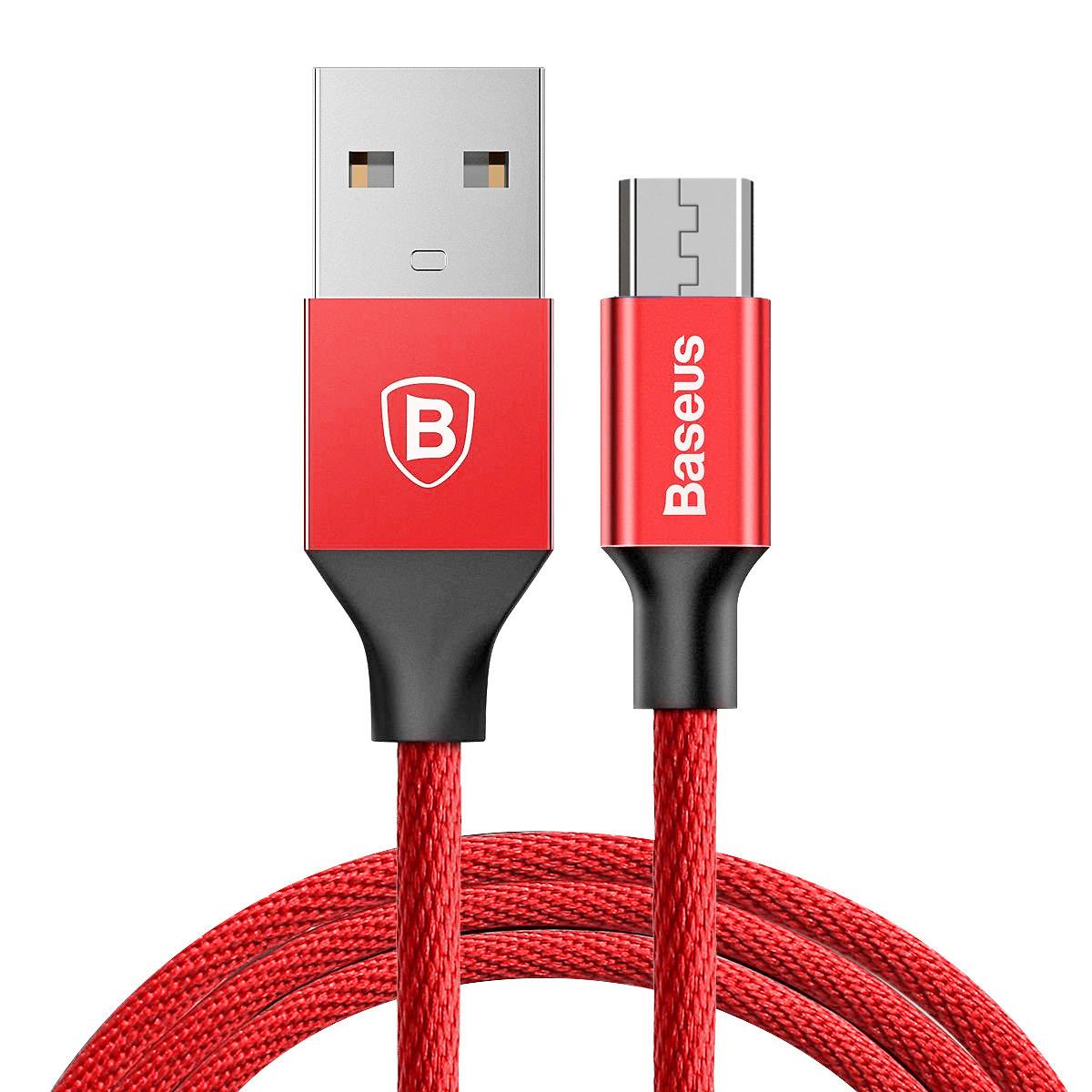 Cáp sạc điện thoại Baseus Yiven Micro USB, bọc dù, dài 1m