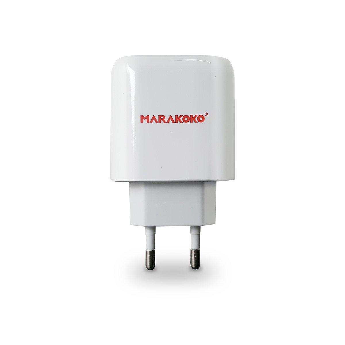 Sạc điện thoại Marakoko MA16, 2 cổng sạc SmartID, 5V/2.4A Max