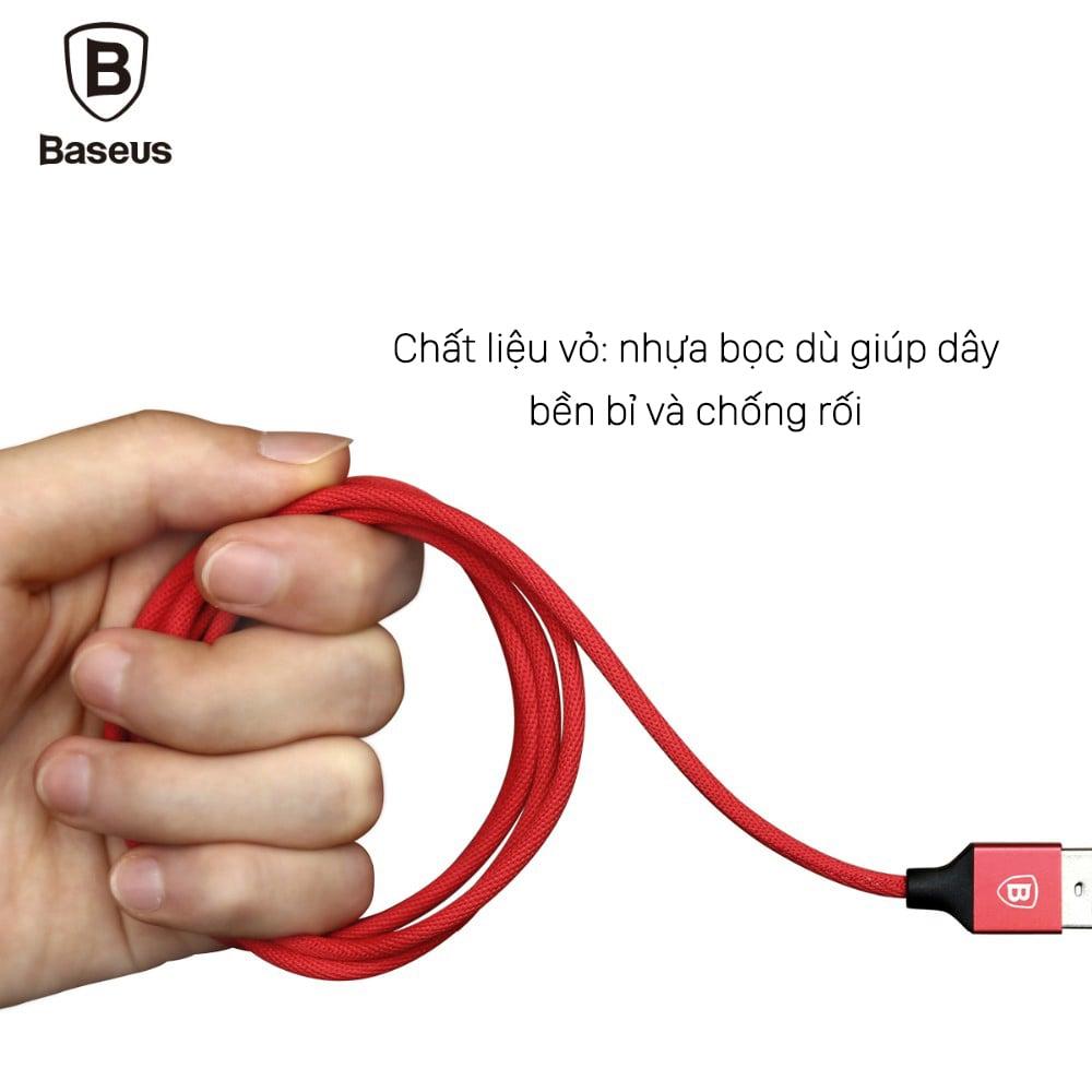 Cáp sạc điện thoại Baseus Yiven Lightning USB, bọc dù, dài 3m