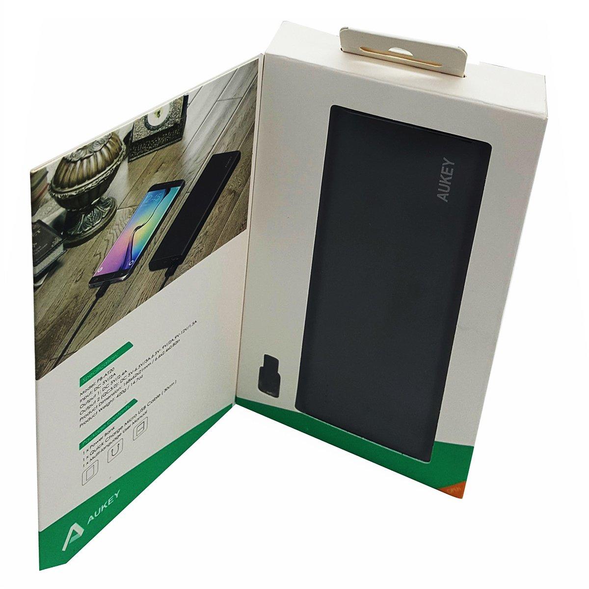 Pin sạc dự phòng Aukey PB-AT20, 20.100 mAh, công nghệ sạc nhanh Quick Charge 3.0