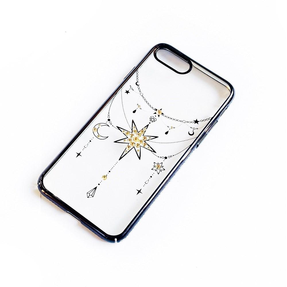 Ốp lưng iPhone 8 Plus / 7 Plus Tuxedo Crystal đính đá Swarovski in hình Ngôi sao đen