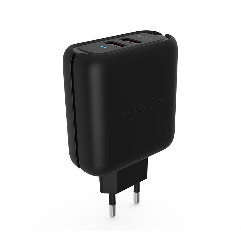 Củ sạc điện thoại Marakoko MA21, 2 cổng ra Quick charger 3.0, công suất 36W