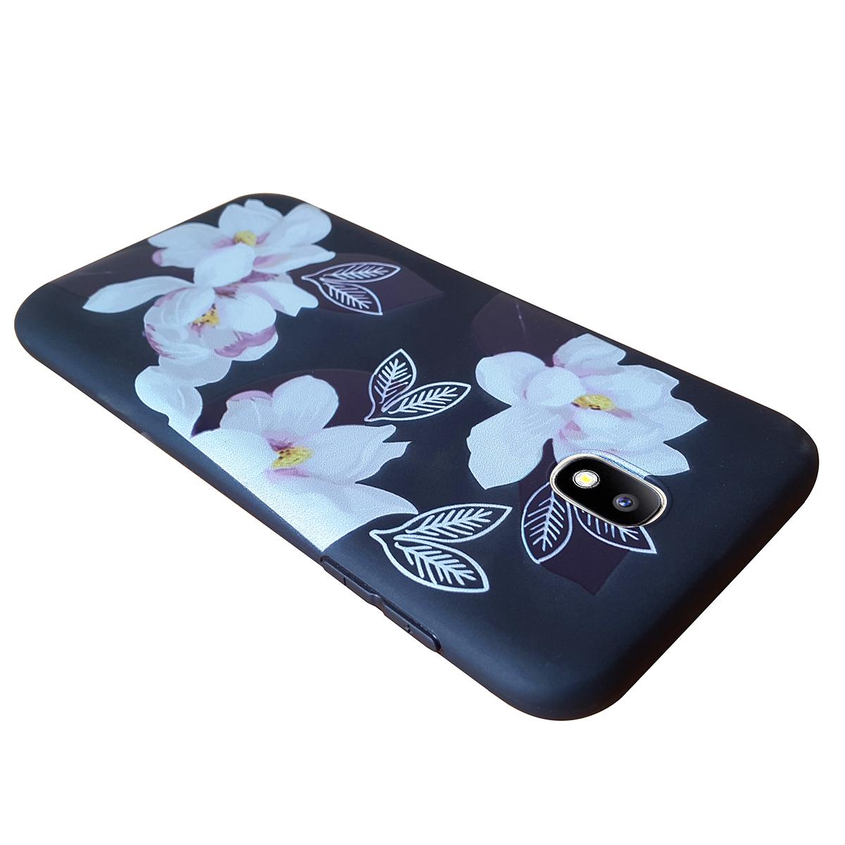 Ốp lưng Samsung Galaxy J7 Pro Tuxedo hình hoa mộc lan (chất liệu nhựa dẻo đàn hồi, chống bụi, chống xước)