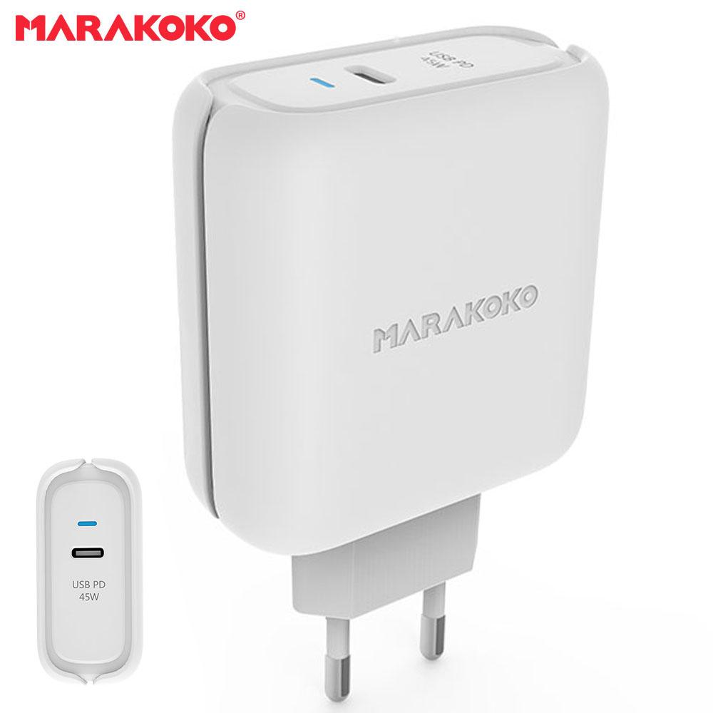 Củ sạc điện thoại Marakoko MA24, 1 cổng sạc ra USB-C PD 3.0 ( 45W ), công nghệ USB PD Power Delivery 3.0