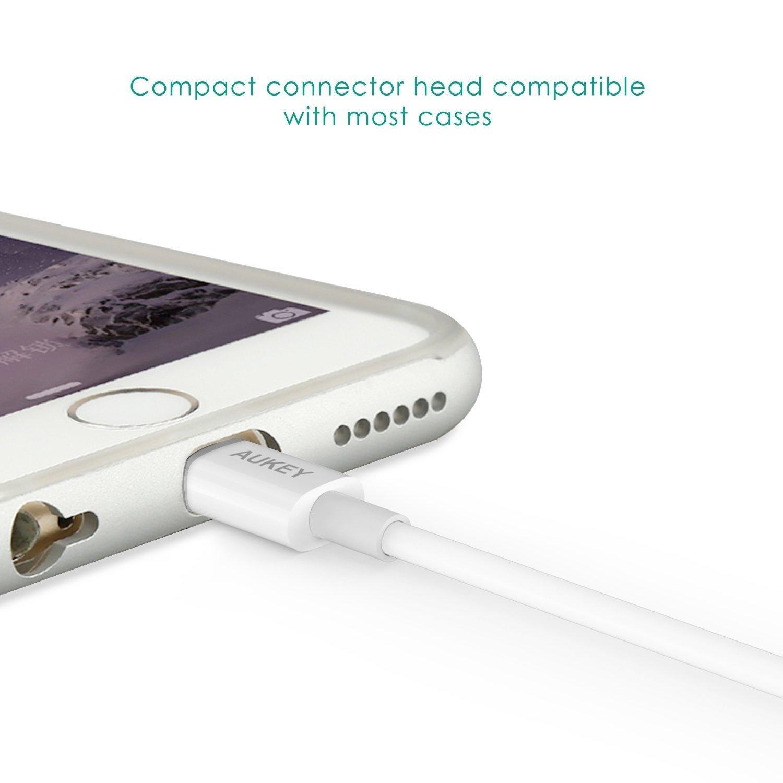 Cáp sạc điện thoại Aukey CB-D20 Lightning USB dài 1m (chuẩn MFI)