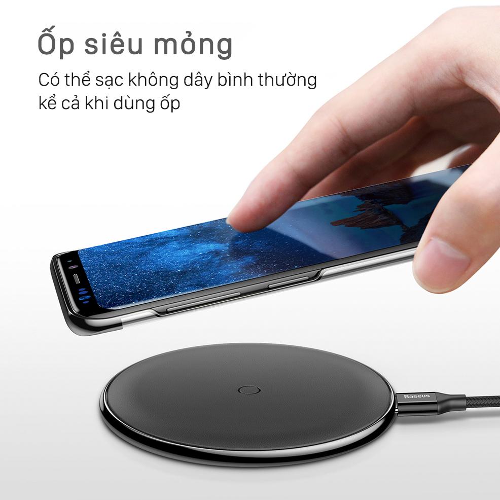 Ốp lưng Galaxy S9 Baseus Glitter nhựa cứng trong suốt, chống trầy