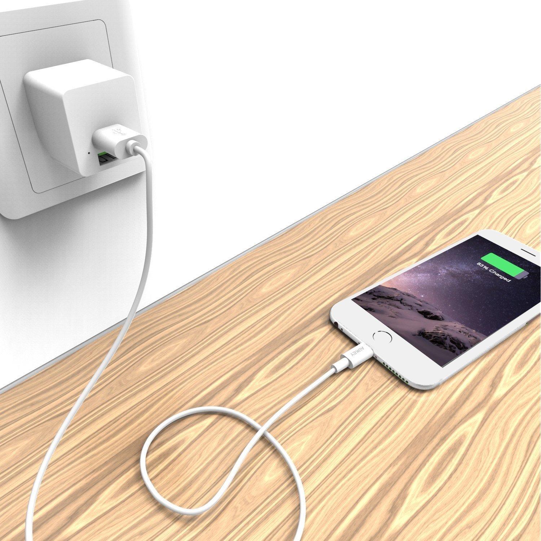Cáp sạc điện thoại AUKEY CB-D18 Lightning USB, dài 3m, chuẩn MFI