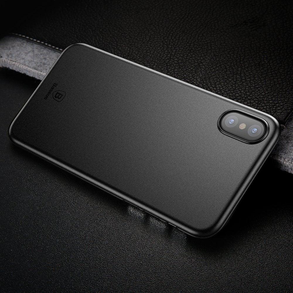 Ốp lưng iPhone X Baseus Wing siêu mỏng, chống va đập, chống vân tay