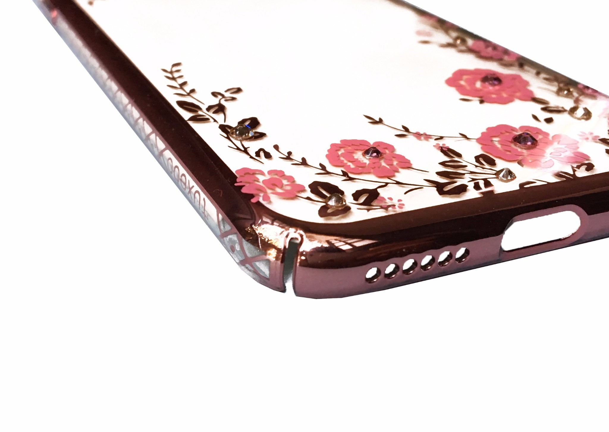 Ốp lưng iPhone 8 Plus / 7 Plus Tuxedo Crystal đính đá Swarovski in hình Vườn hồng