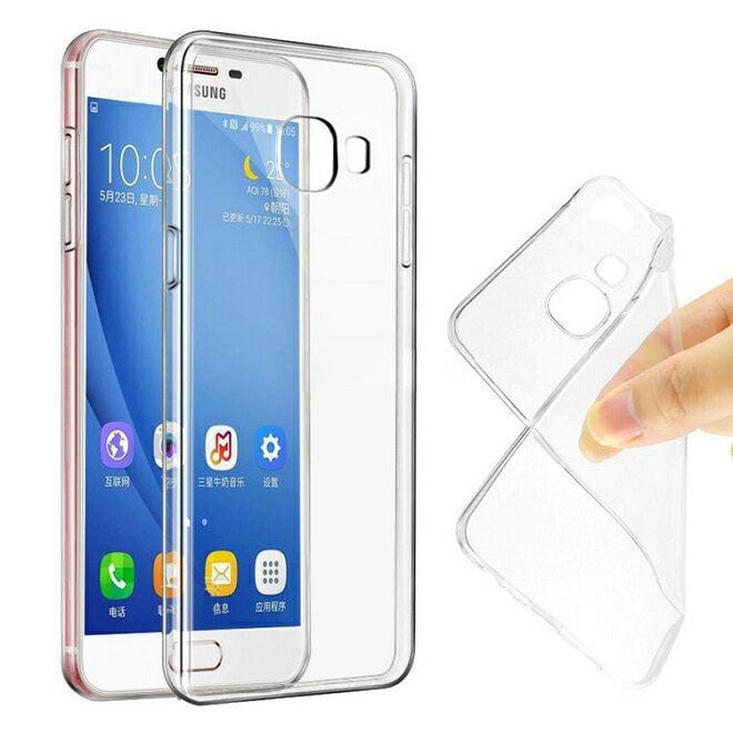 Ốp lưng Samsung Galaxy A5 Tuxedo trong suốt (nhựa dẻo, chống xước, chống va đập)