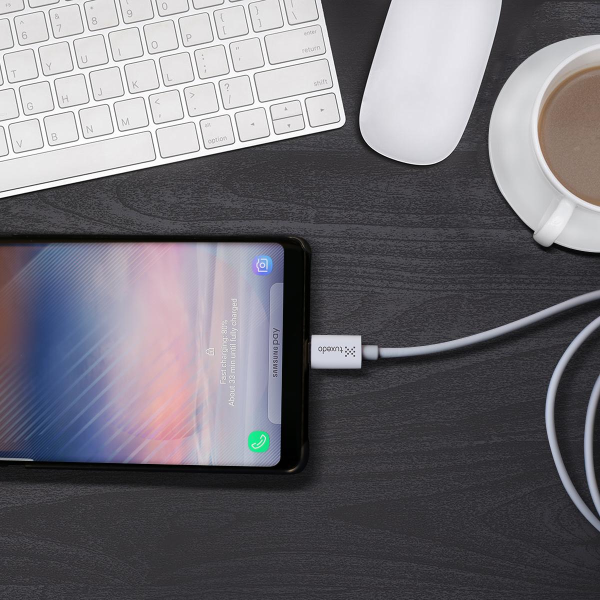Cáp sạc điện thoại Tuxedo Type-C USB Data Cable dài 1m (hỗ trợ sạc nhanh)