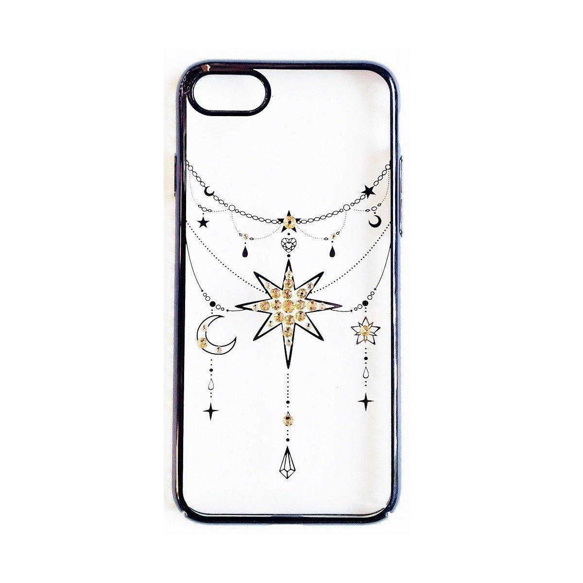 Ốp lưng iPhone 8 / iPhone 7 Tuxedo Crystal đính đá Swarovski in hình Ngôi sao đen
