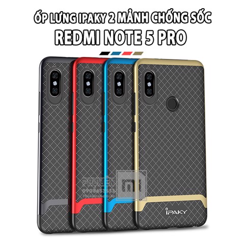 Ốp lưng Xiaomi Redmi Note 5 / Note 5 Pro iPAKY 2 mảnh chống sốc