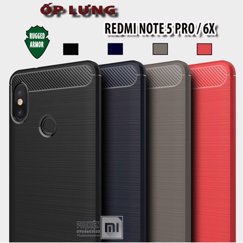 Ốp lưng Xiaomi Redmi Note 5 Pro  chống sốc - Rugged Armor