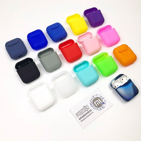 Case silicon cho tai nghe Apple Airpods mỏng (thêm dây + 20k)
