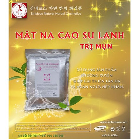Mặt Nạ Cao Su Lạnh Trị Mụn Sinbicos - Sinbicos Acne Oily & Charcal Modeling Mask