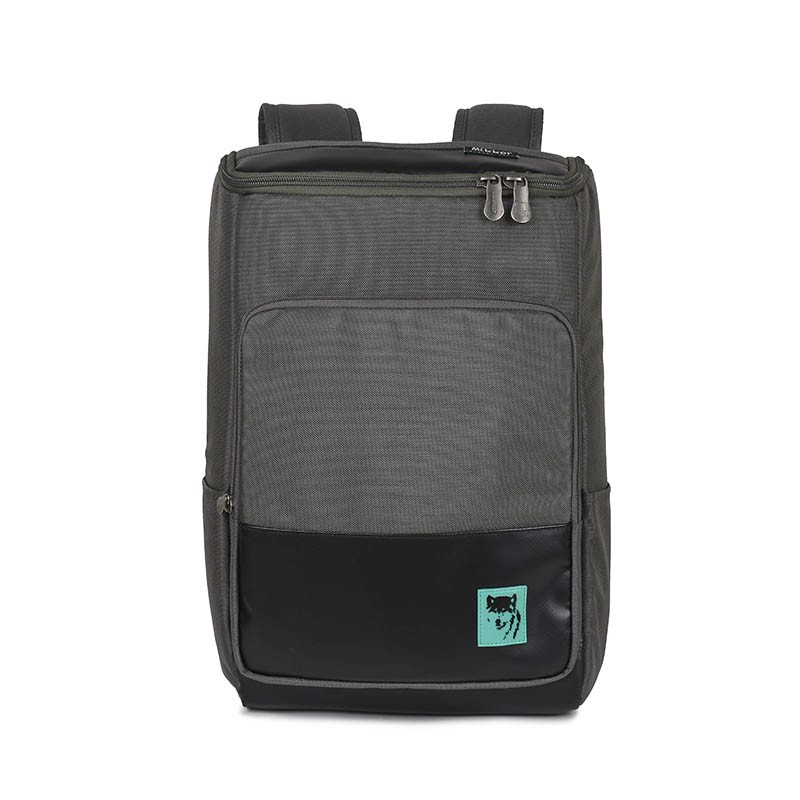 Mikkor The Victor Backpack Dark Mouse Grey
