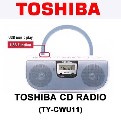 ĐÀI ĐĨA CD, USB , BLUETOOTH TOSHIBA TY-CWU11 ( usb, bluetooth)