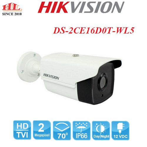 CAMERA HDTVI 2MP DS-2CE16D0T-WL5