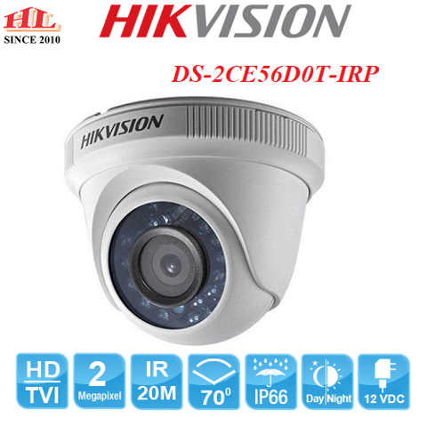 CAMERA HDTVI DOME DS-2CE56D0T-IRP (2.0MP)