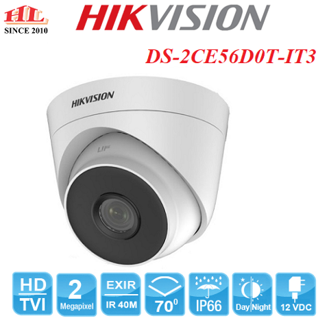 CAMERA HDTVI DOME DS-2CE56D0T-IT3 (2.0MP)