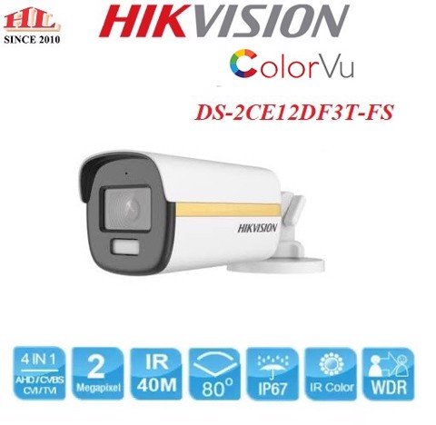 CAMERA HD-TVI  DS-2CE12DF3T-FS