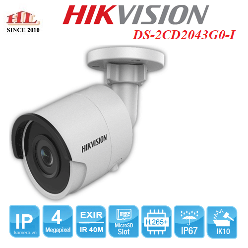 CAMERA IP 4MP HIKVISION DS-2CD2043G0-I
